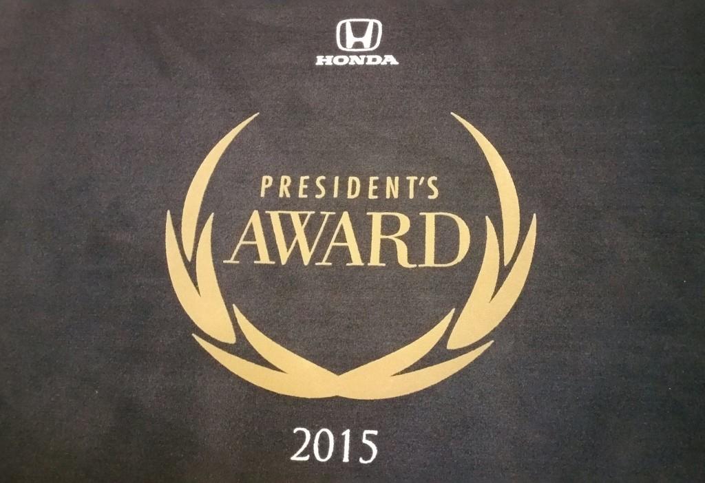 Honda President's Award 2015