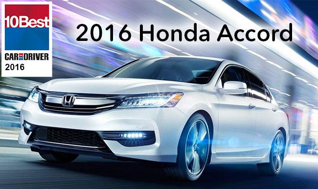 2016 Honda Accord KBB 10 Best Cars