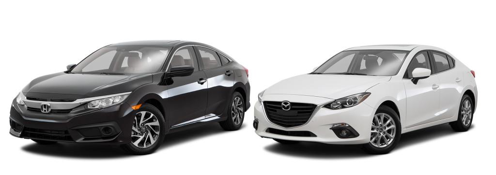 Honda Civic vs Mazda3