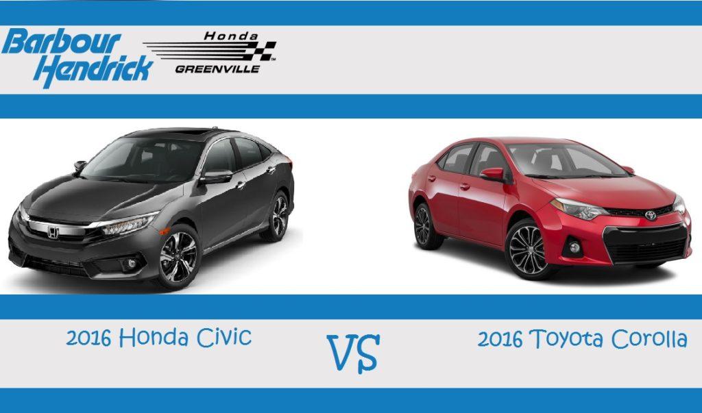 2016 Honda Civic Comparison Greenville