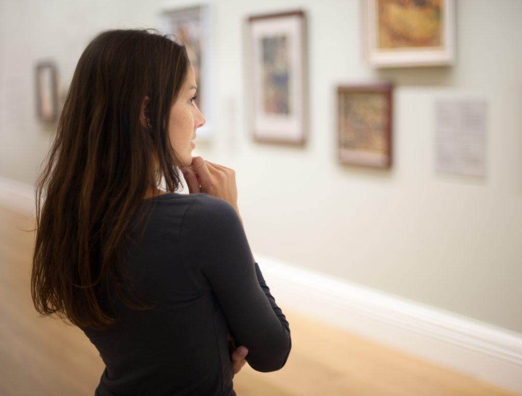 Woman in an Art Gallery
