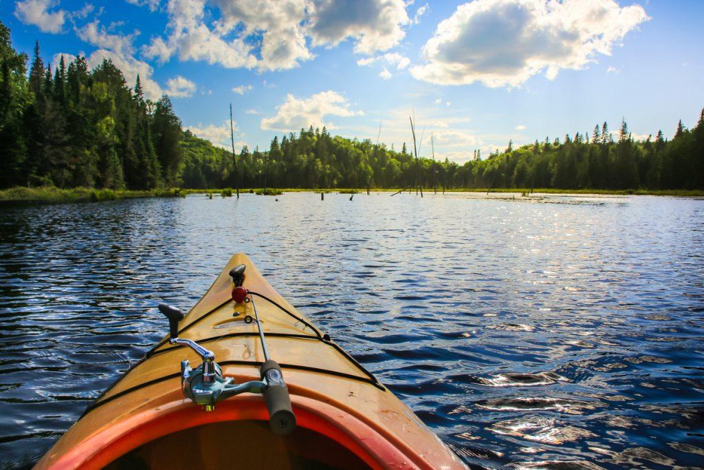 Summer activities Fishing in a Kayak