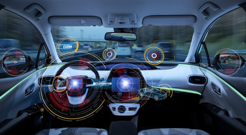 Futuristic car cockpit for Honda Apple CarPlay and Android Auto