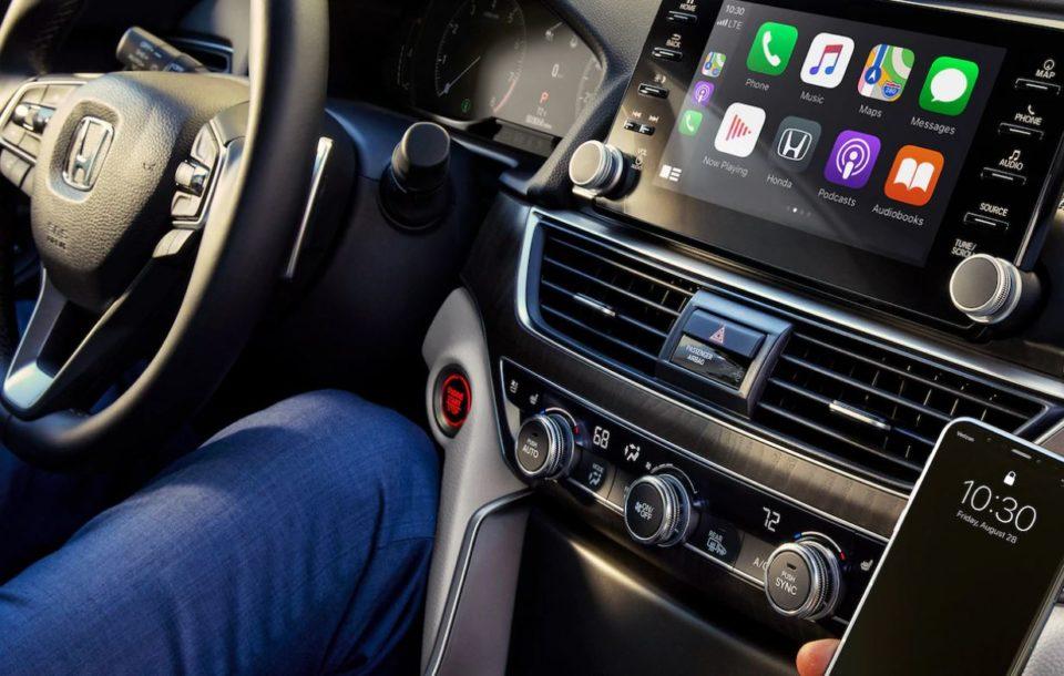 Interior of a 2021 Honda vehicle