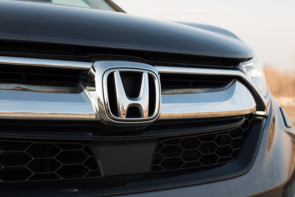Front Honda sign.
